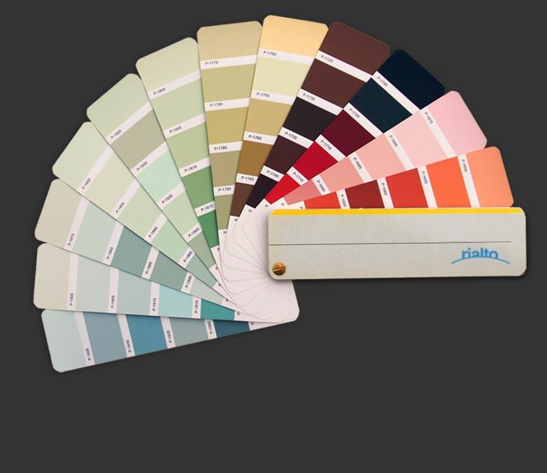 on sale 49761 3f453 RIALTO Color charts: Collezione Italia
