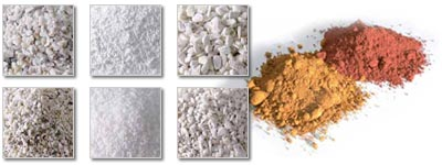 aggregates and natural pigments