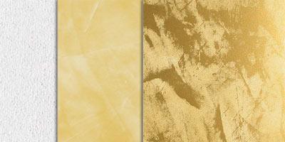 metallic stucco full effect - gold