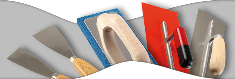 Professional quality plastering tools trowels and spatulas