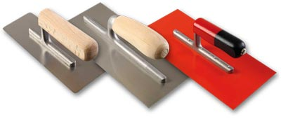 steel and plastic trowels